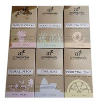 Art Naturals 6 Piece Soap Bar Set 4.0oz Each 100% Natural & Infused with Jojoba Oil - Best for all Skin Types (Tea tree), Certified