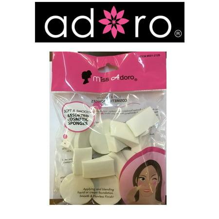 LWS LA Wholesale Store  Makeup Cosmetic Wedges Triangle blending Sponge Foam Applicator 16 pcs (Wholesale Make Up)