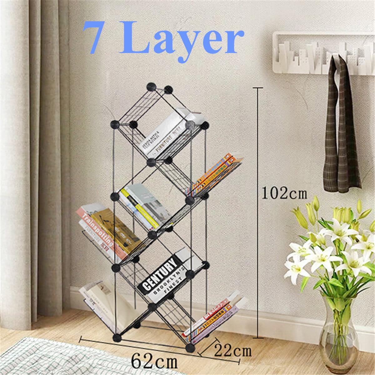 7 9 Layer Iron Book Case Shelf Bedroom Bookcase Bookshelf Home Decor Gift Walmart Canada