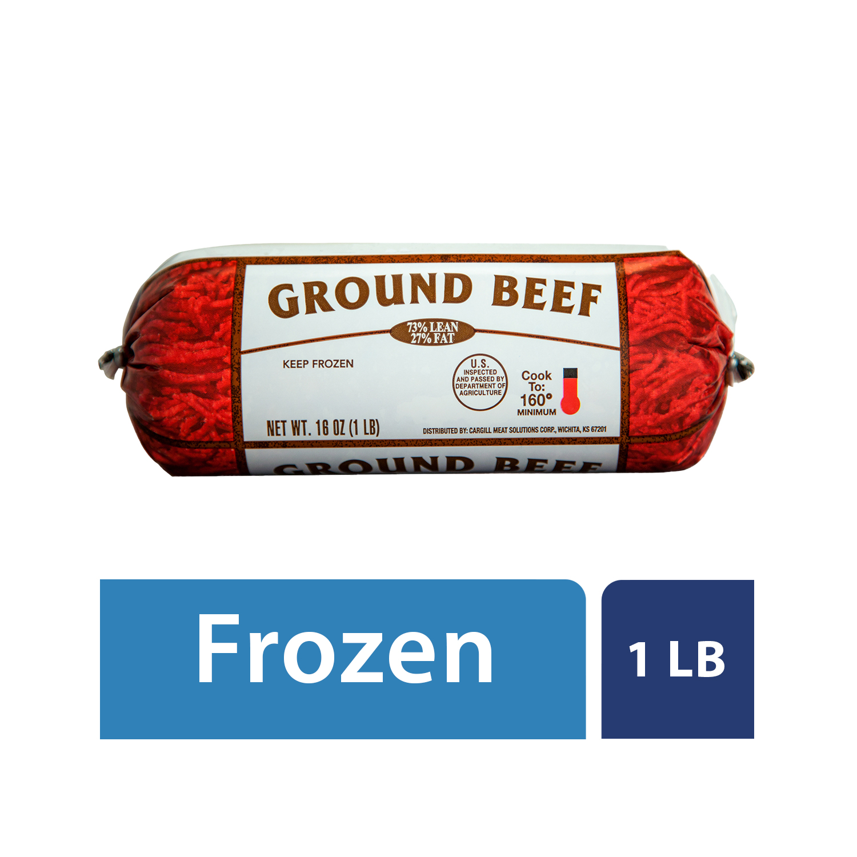 Frozen 73% Lean/15% Fat, Ground Beef Roll, 1lb