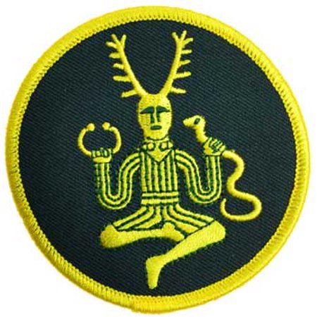 Sewing Decorative Patches Golden Cernunnos Lord of the Hunt Sew On Patch