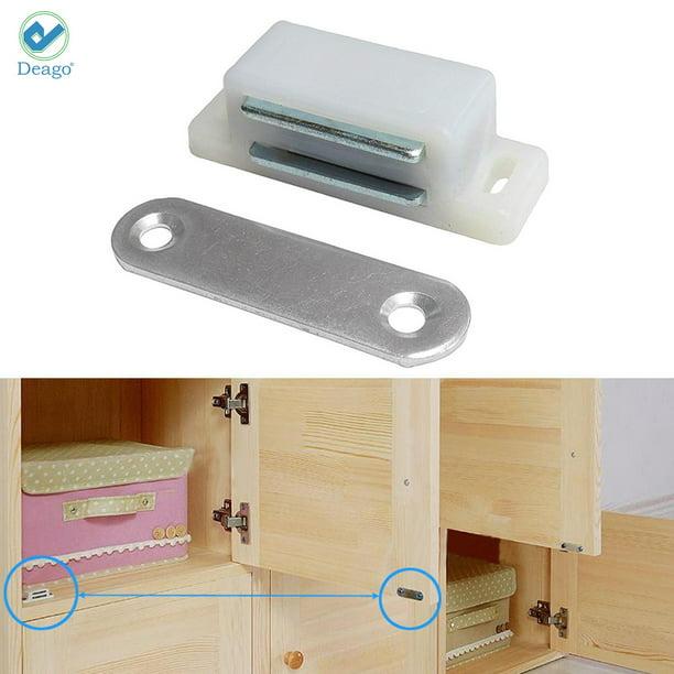 Deago Magnetic Cabinet Door Latch, Magnet Replacement Kitchen Cabinet Doors
