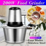 2L 200W Multipurpose Electric Meat Grinders Vegetables Mincer Slicer Food Processor Kitchen Tools With Double Blade