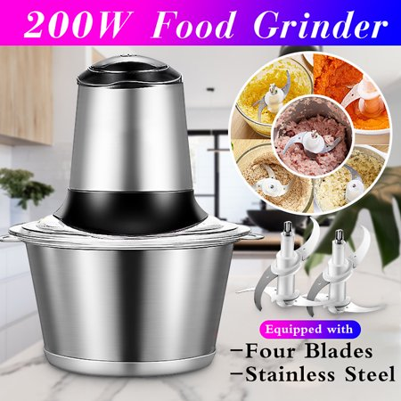 2L 200W Multipurpose Electric Meat Grinders Vegetables Mincer Slicer Food Processor Kitchen Tools With Double