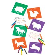 EDX Education Co Life Science Stencils of Bugs and Animals - Set of 24