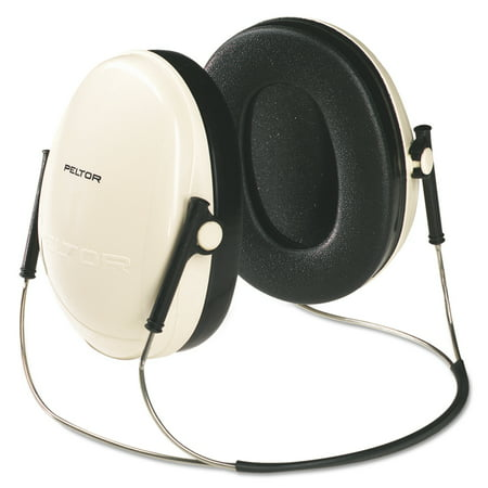 3M E A R Peltor OPTIME 95 Behind-The-Head Earmuffs, 21NRR, Beige/Black
