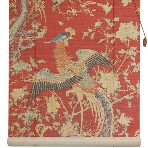 Oriental Furniture Red Phoenix Bamboo Roller Blind
