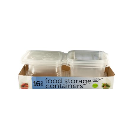 Food Storage Containers With Attached Lids (Pack Of 2)