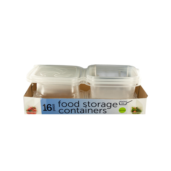 Perfect Food Storage Containers With Attached Lids (Pack Of 2)