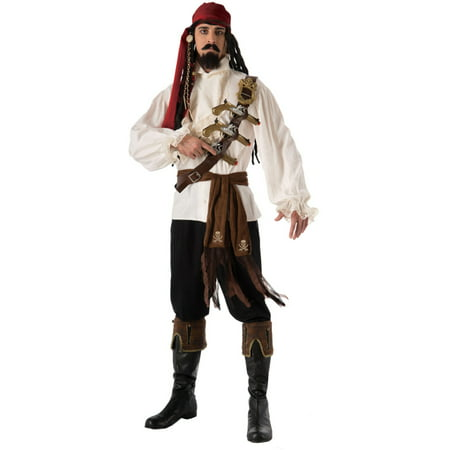 Adult Men's Caribbean Pirate Skull and Cross Bones Sash Costume Accessory (Mens Pirate Costume)