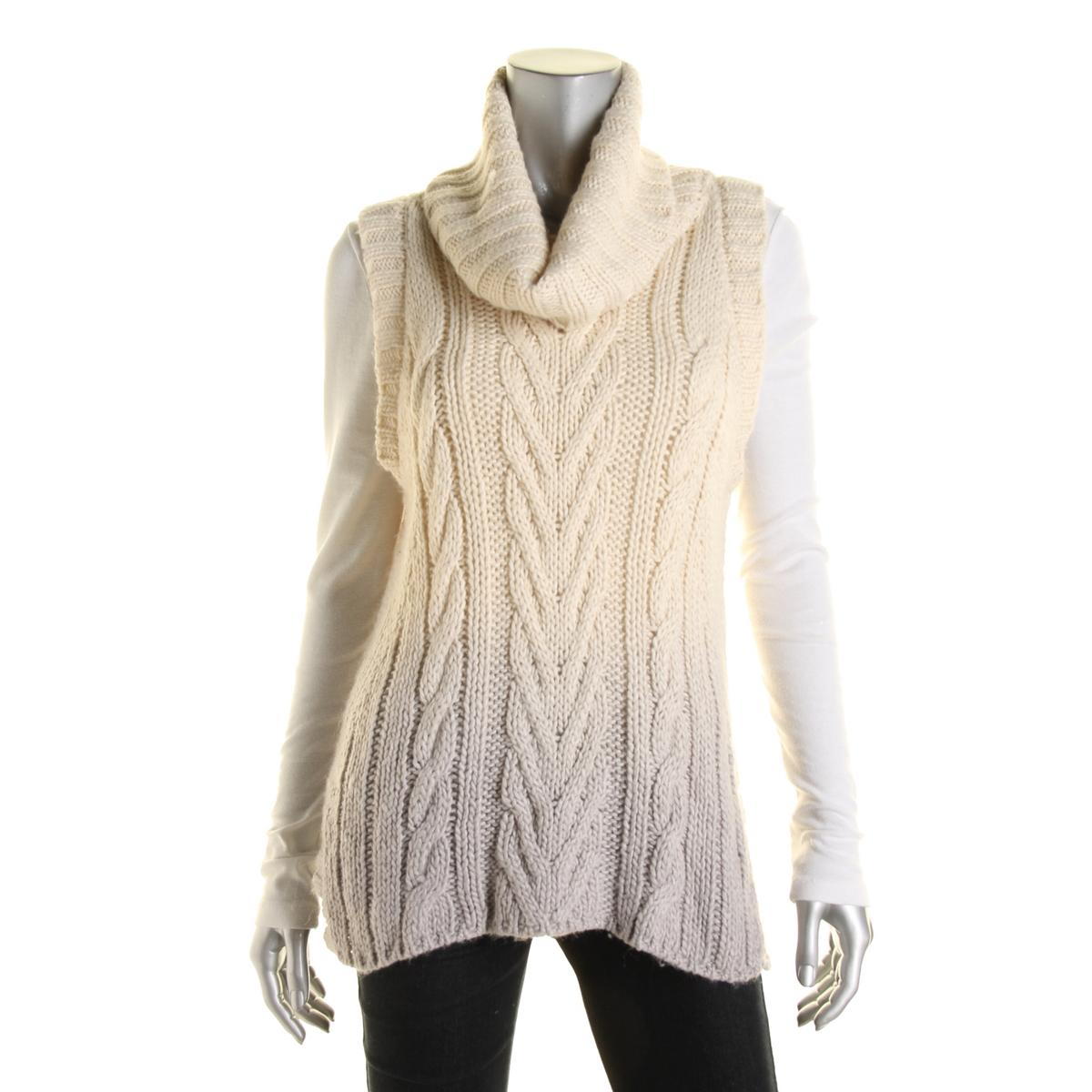 Sanctuary Womens Ombre Sleeveless Sweater
