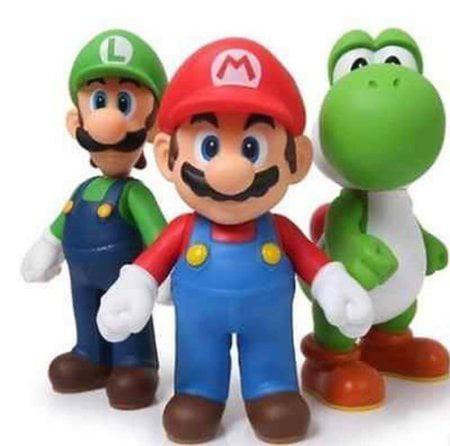 New 3pcs Nintendo Super Mario Bros Luigi Mario Action Figures Toys Gift by