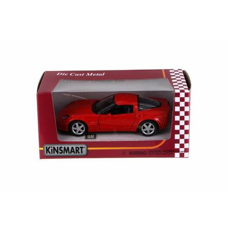 Corvette Z06 Wheels - 2007 Chevy Corvette Z06, Red - Kinsmart 5320WR - 1/36 Scale Diecast Model Toy Car