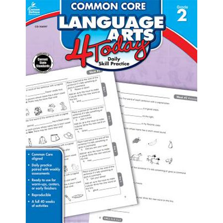 Common Core Language Arts 4 Today, Grade 2 : Daily Skill (Two Languages)