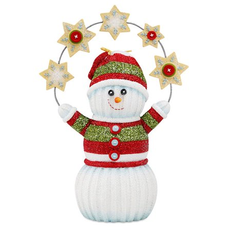 Pavilion Gift Company 93007 Let It Snow Snowman Holding Snowflakes