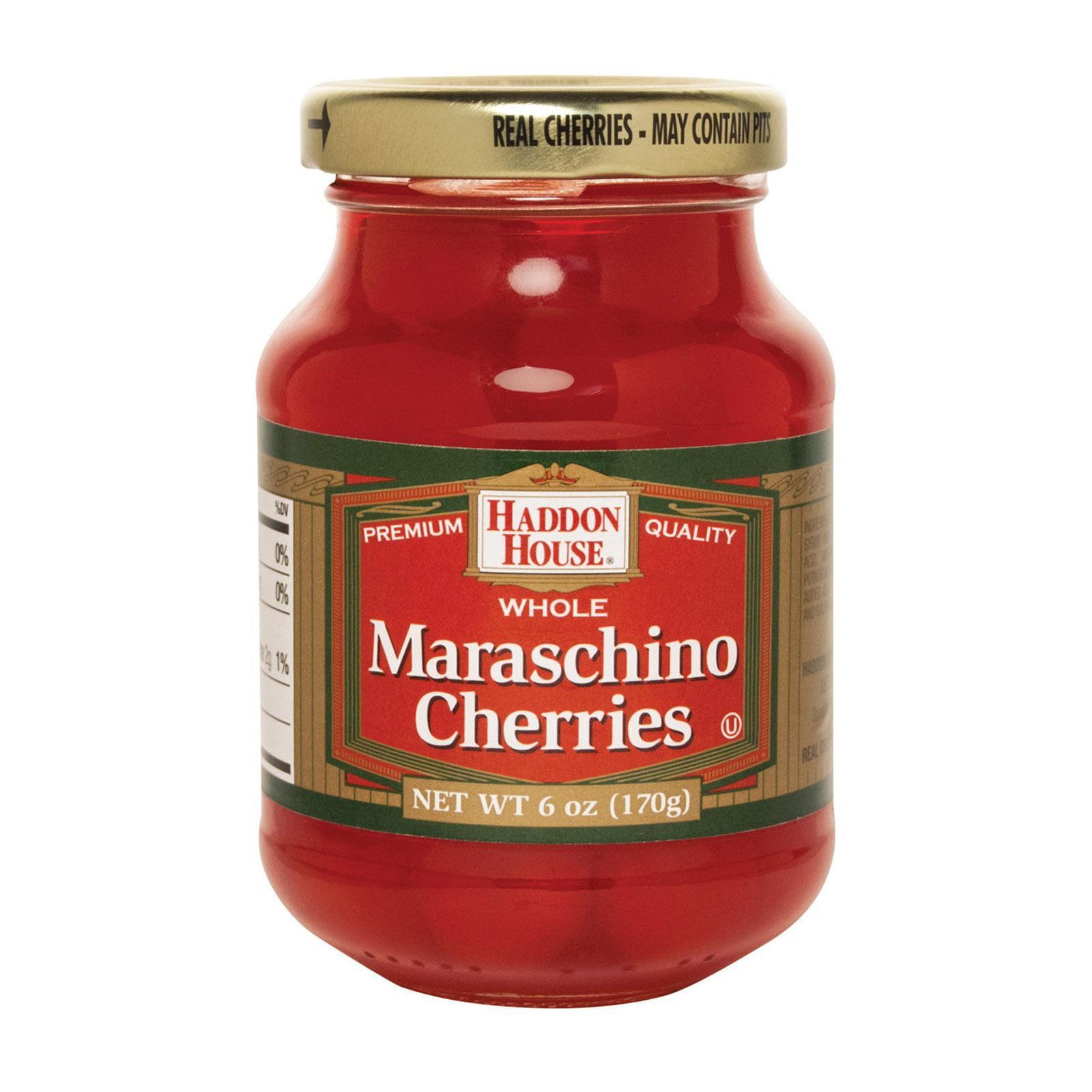 Haddon House Maraschino Cherries pack of 12 6 Oz by