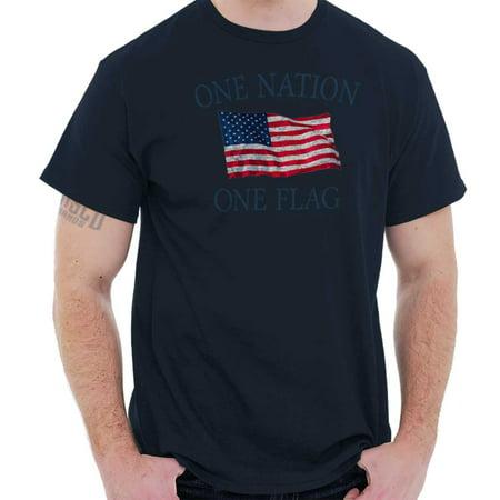 One Nation One Flag America Pride Patriotic T Shirt Tee