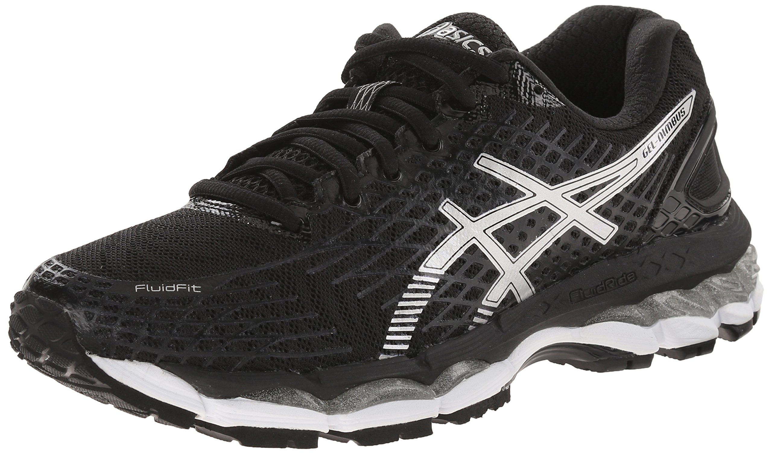 huge selection of 9d90c 96e1f ... wholesale asics asics womens gel nimbus 17 running shoe black silver  onyx 11.5 bm us walmart