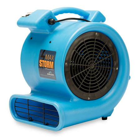 Max Storm 1/2 HP Durable Lightweight Air Mover Carpet Dryer Blower Floor Fan for Pro Janitorial, Blue (Carpet Dryer)