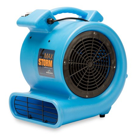 Max Storm 1 2 Hp Durable Lightweight Air Mover Carpet Dryer Blower Floor Fan For Pro Janitorial  Blue