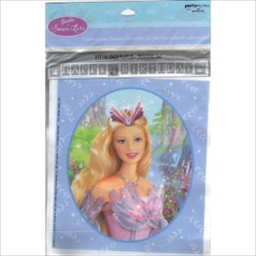 Barbie 'Swan Lake' Happy Birthday Banner (1ct)
