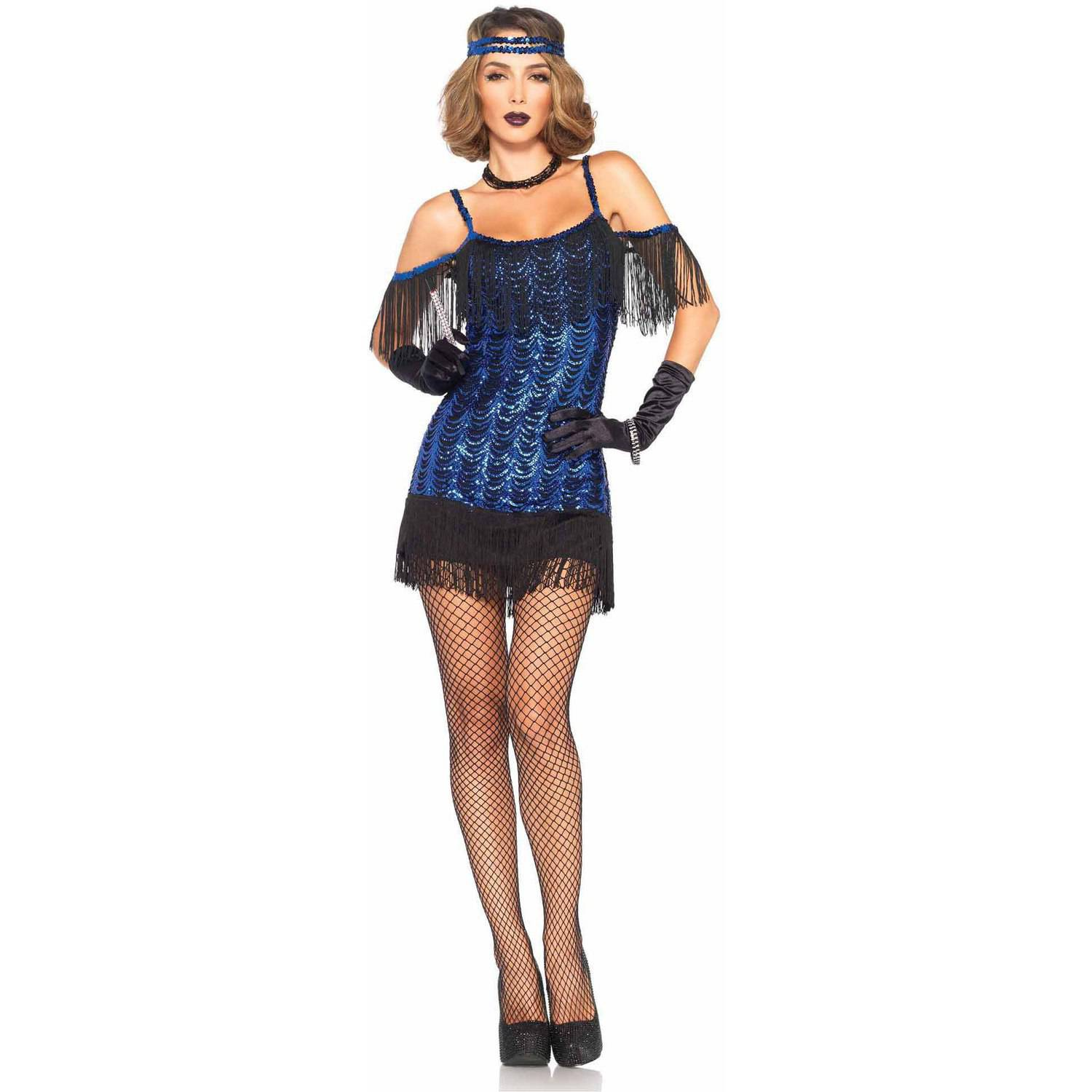 Leg Avenue 2-Piece Glamour Girl Flapper Adult Halloween Costume ...