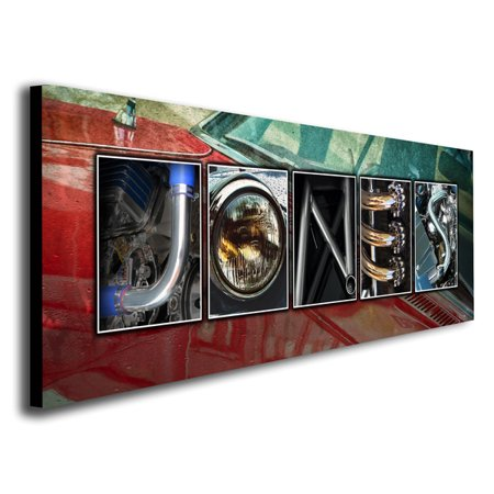 Car Canvas Art (Personalized Automobile Car Name Canvas Wall Art, Live Previews, Choose Each Photo, Multiple Options)