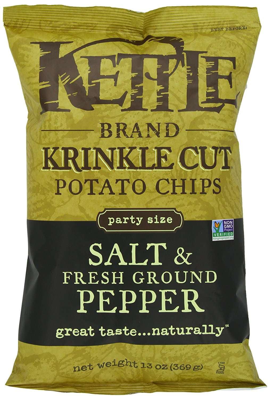 Kettle Brand Krinkle Cut Potato Chips, Salt & Fresh Ground Pepper, 13 Oz by Snyder's-Lance
