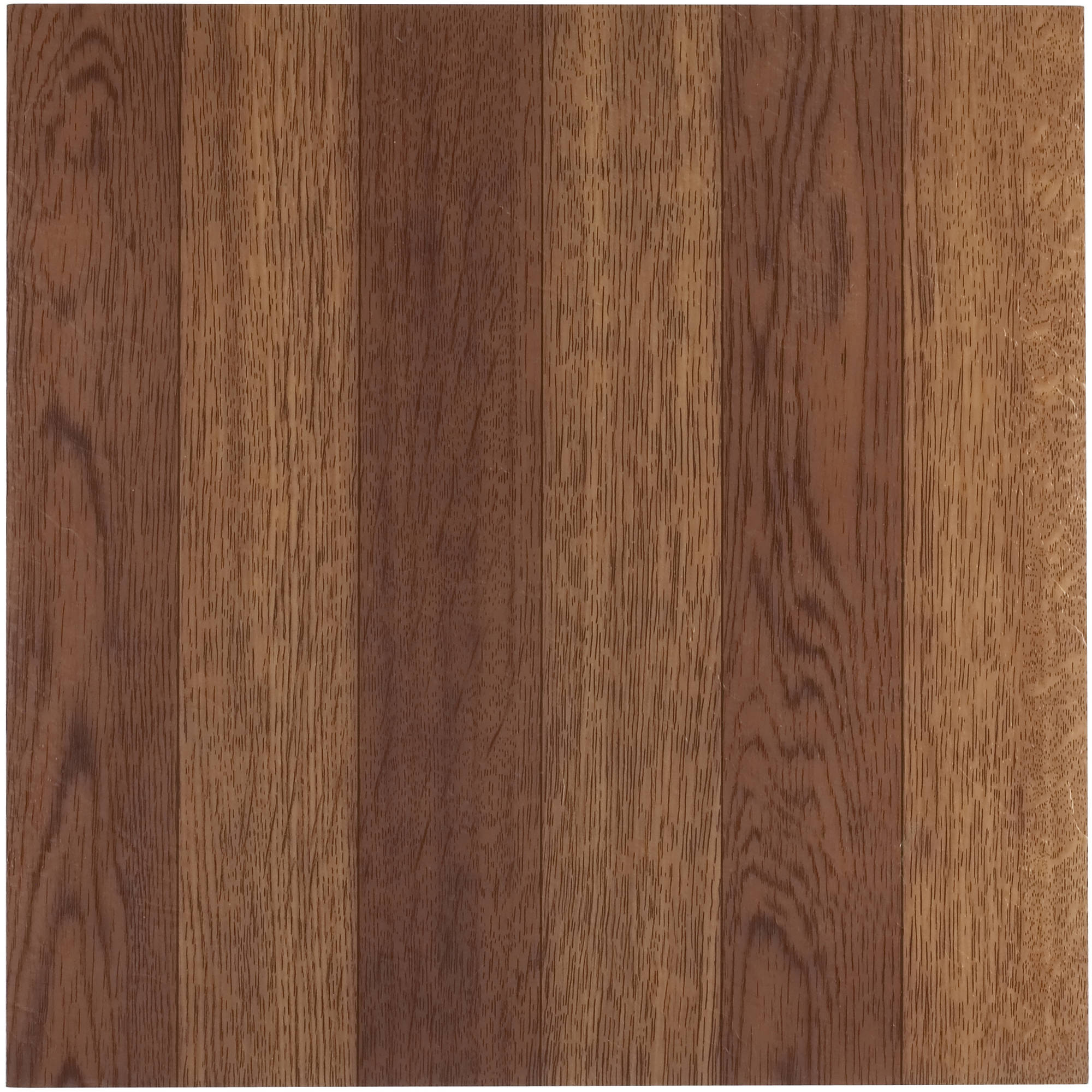 Tivoli Medium Oak Plank-Look 12x12 Self Adhesive Vinyl Floor Tile - 45 Tiles/45 Sq.Ft.