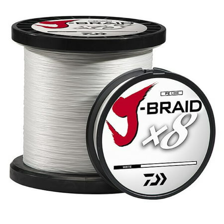 Daiwa J-Braid Fishing Line, 330 yds, White (Daiwa Tournament Line)