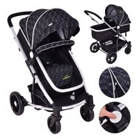 Product Image Costway 2 In1 Foldable Baby Stroller Kids Travel Newborn Infant Buggy Pushchair Black