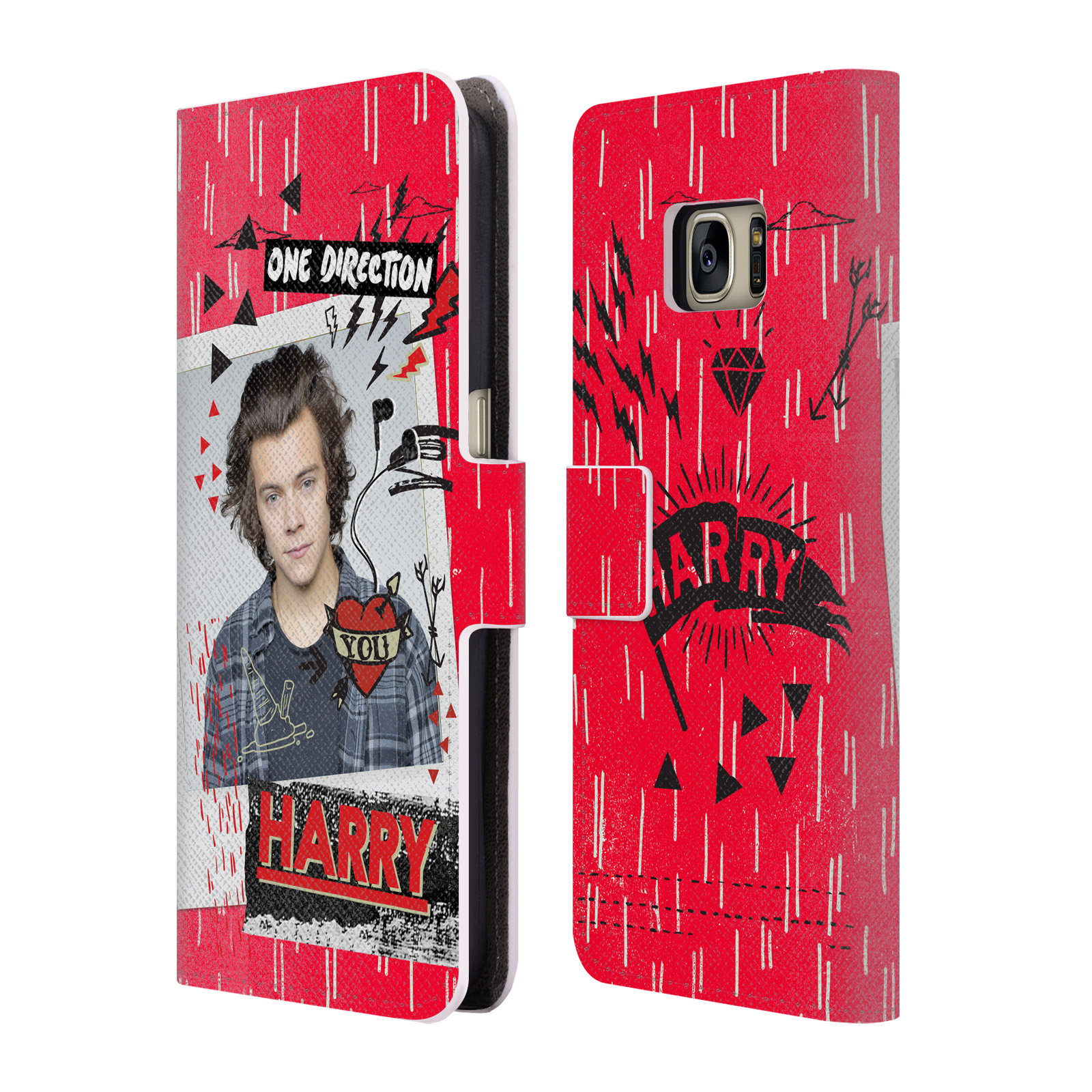 OFFICIAL ONE DIRECTION MIDNIGHT MEMORIES SHOTS HARRY LEATHER BOOK WALLET CASE COVER FOR SAMSUNG PHONES 1