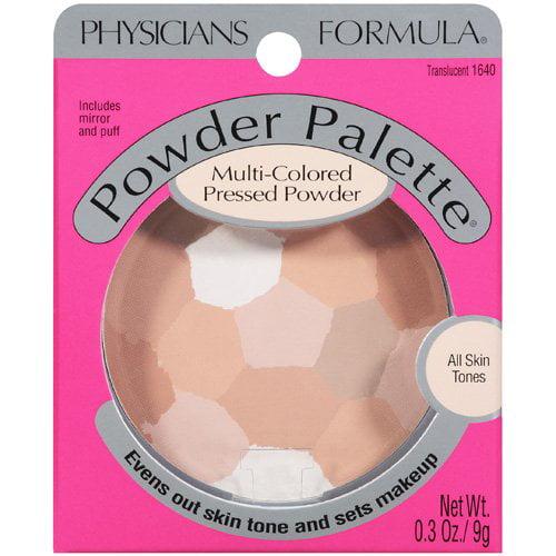 Physicians Formula All Skin Tones Translucent 1640 Powder Palette Multi-Colored Pressed Powder .3 Oz