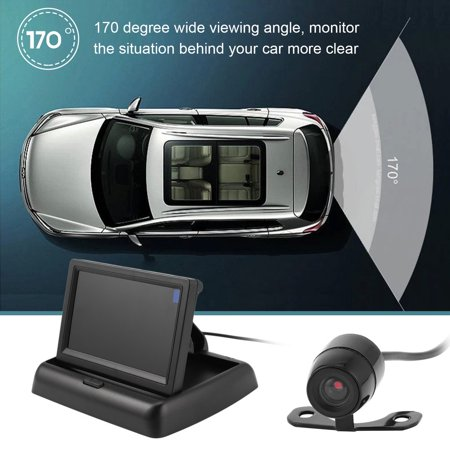 Auto Reversing Assistance Kit with Folding Display+170 Degree Rear View Camera - image 5 of 8
