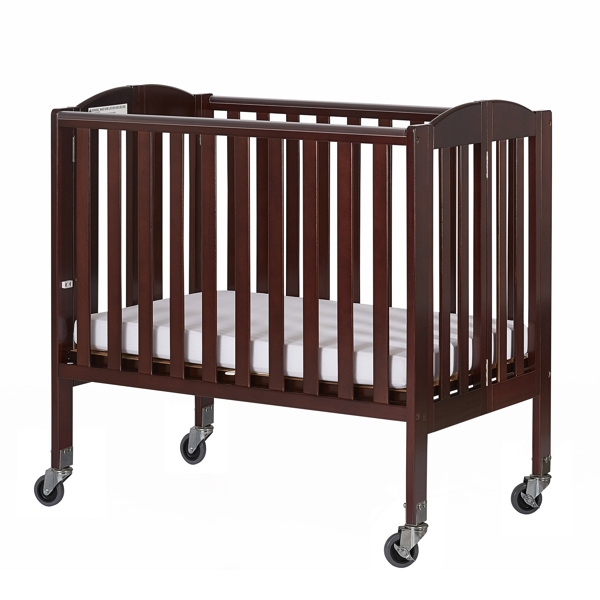 Dream On Me 2-in-1 Birch Folding Portable Crib Espresso Birch