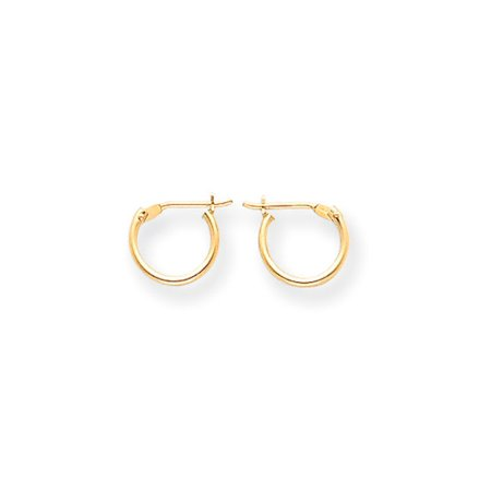 9mm Children's Hinged Post Hoop Earrings in 14k Yellow Gold