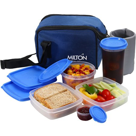 Insulated Lunch Bag Box Kit, Milton 5 Pc Set, Adults Men Women, Leakproof Airtight Containers Cooler Tote with Adjustable Shoulder Strap for Work School and Travel - - Halloween School Lunch Menu Ideas