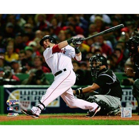 Photograph 2007 World Series (Dustin Pedroia Home Run Game One of the 2007 Major League Baseball World Series Photo)