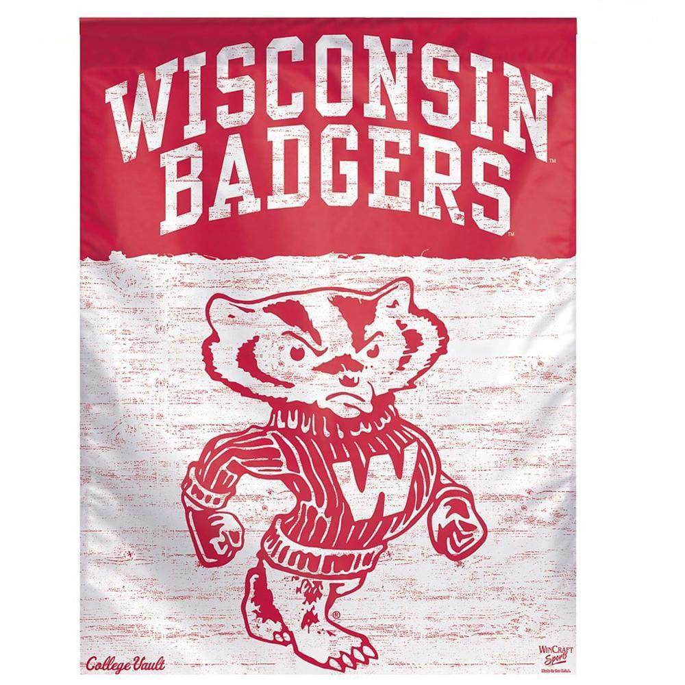 """Wisconsin Badgers 27"""" x 37"""" Vertical Flag"""