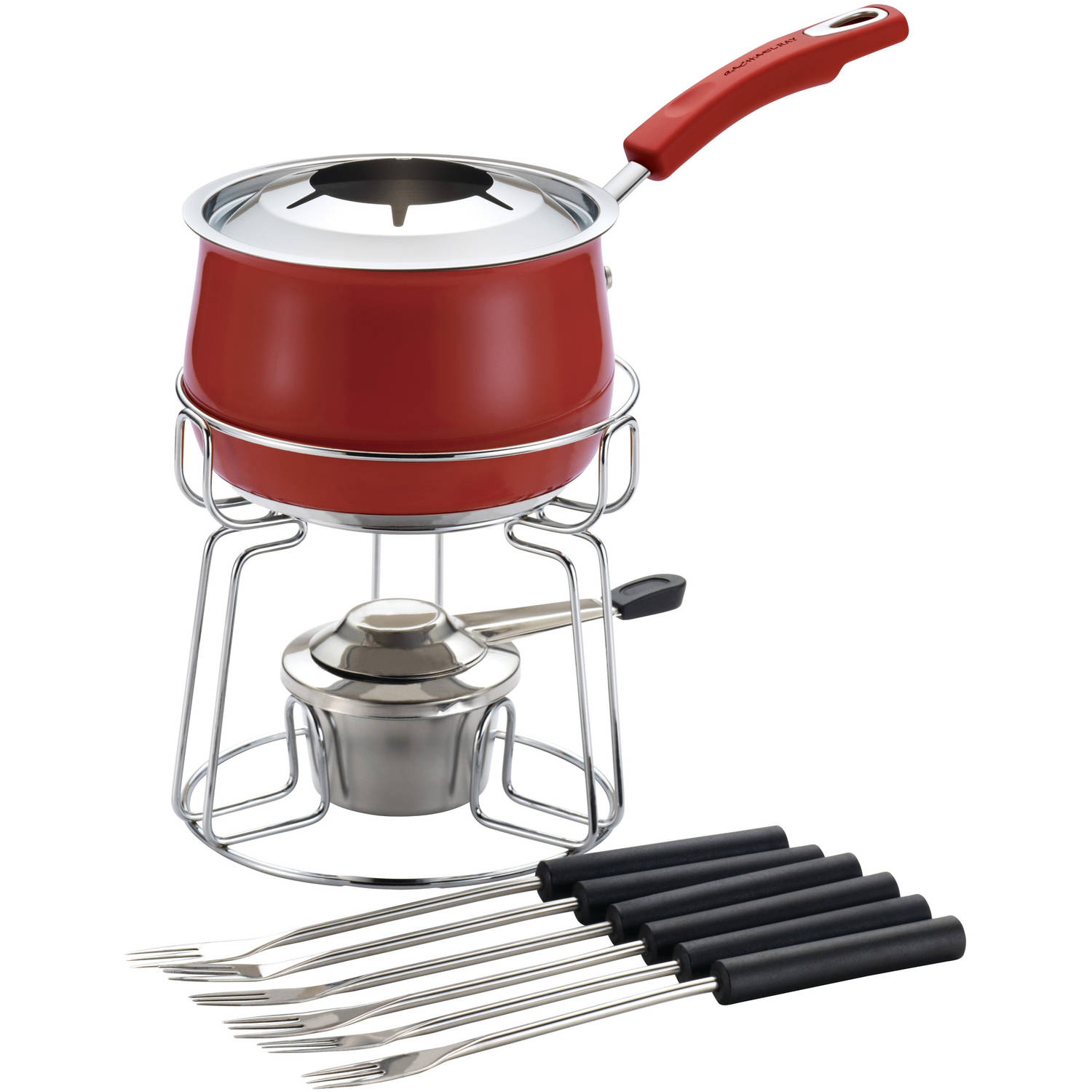 Rachael Ray Stainless Steel Fondue Set, Red