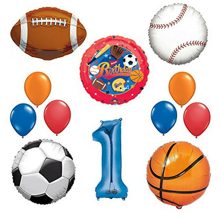The Ultimate Sports Theme 1st Birthday Party Supplies and Balloon Decorating Kit - Halloween Themed Birthday Party Food Ideas