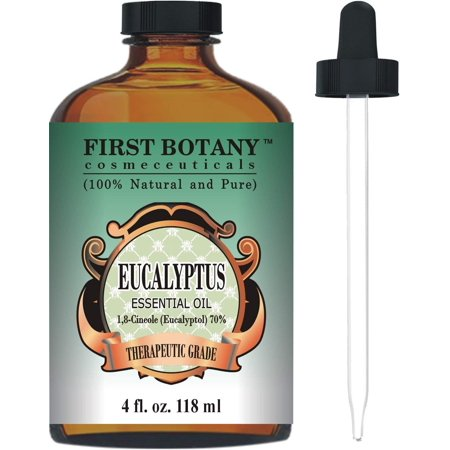Eucalyptus Essential Oil - Big 4 Oz - 100% Pure & Natural Therapeutic Grade with Glass Dropper - Eucalyptus Oil is Great for Aromatherapy, Hair Nourishment, Mosquito Repellent &