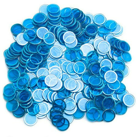 Royal Bingo Supplies Magnetic Bingo Chips, Easy Pick-Up, 300-pack Blue Magnetic Bingo Markers