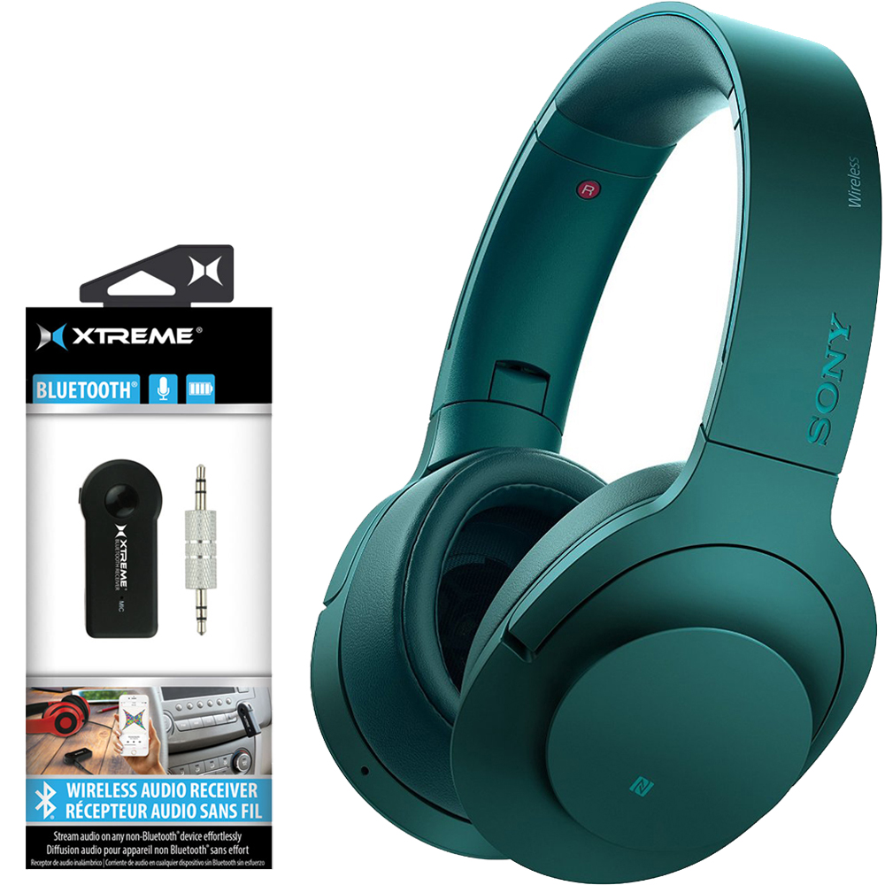 Headphone Sony Mdr100abn Bluetooth Noise Cancelling Hear On Wireless Viridian Blue L W Xtreme 203511 2 In 1 Audio Receiver
