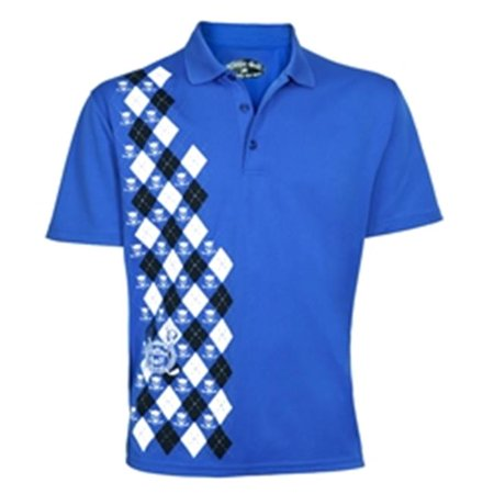 Tattoo Golf P049-LR Blue Monster - Performance Polo - Blue - Large