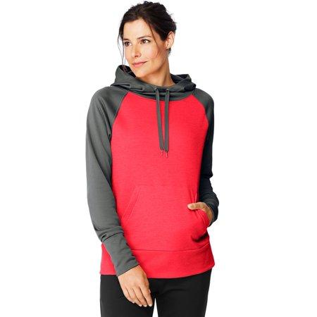 Hanes Womens Sport Performance Fleece Hoodie, L, Black/Black Heather - image 1 of 1