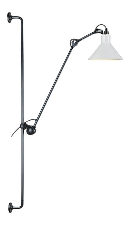 214 Lampe Gras Wall Lamp black   white by