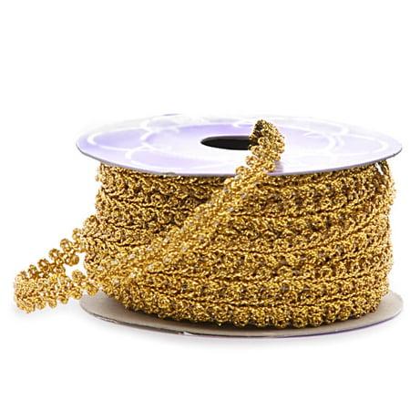 9mm X 10 Yards Gold Rosalie Metallic Trim by Paper