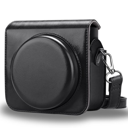 Fintie Protective Case for Fujifilm Instax Square SQ6 Instant Film Camera - PU Leather Bag Cover w/ Strap, - Movement Square Case