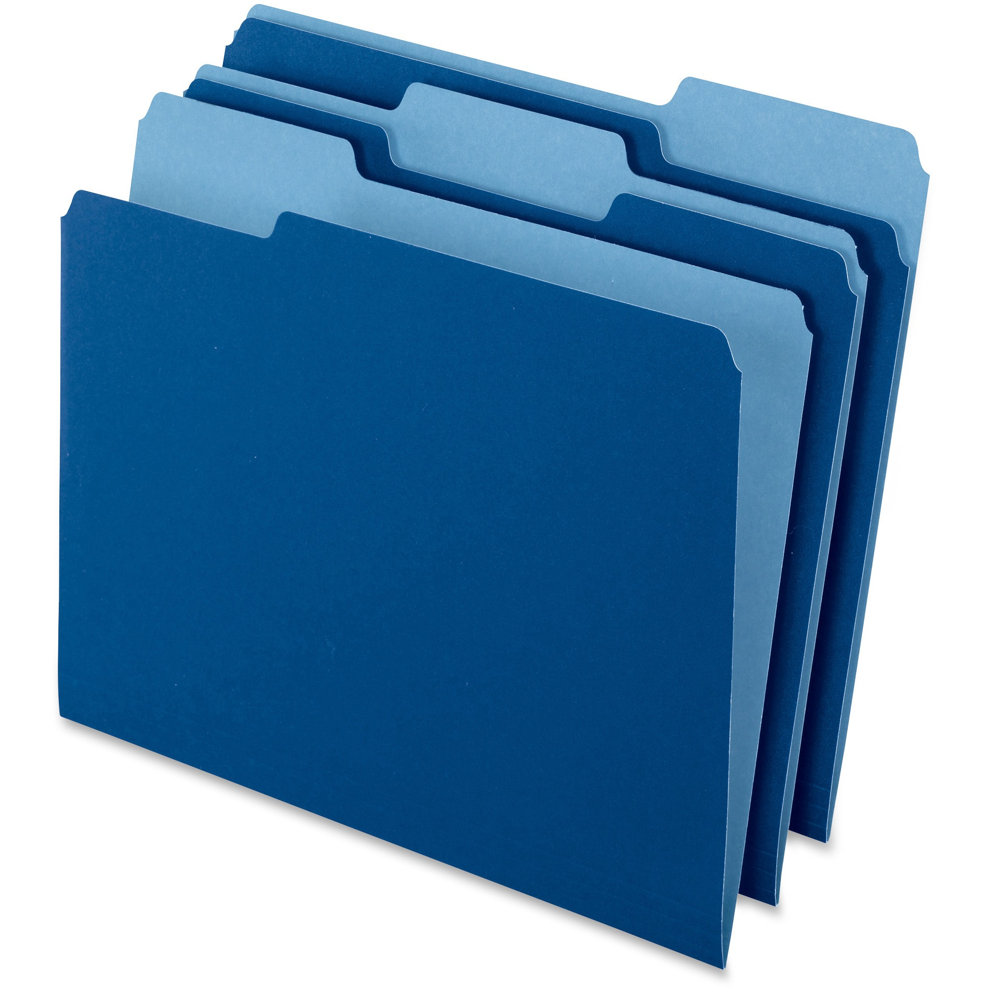 Pendaflex, PFX15213NAV, Two-tone Color File Folders, 100 / Box, Navy Blue